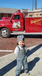 eli and old fire truck